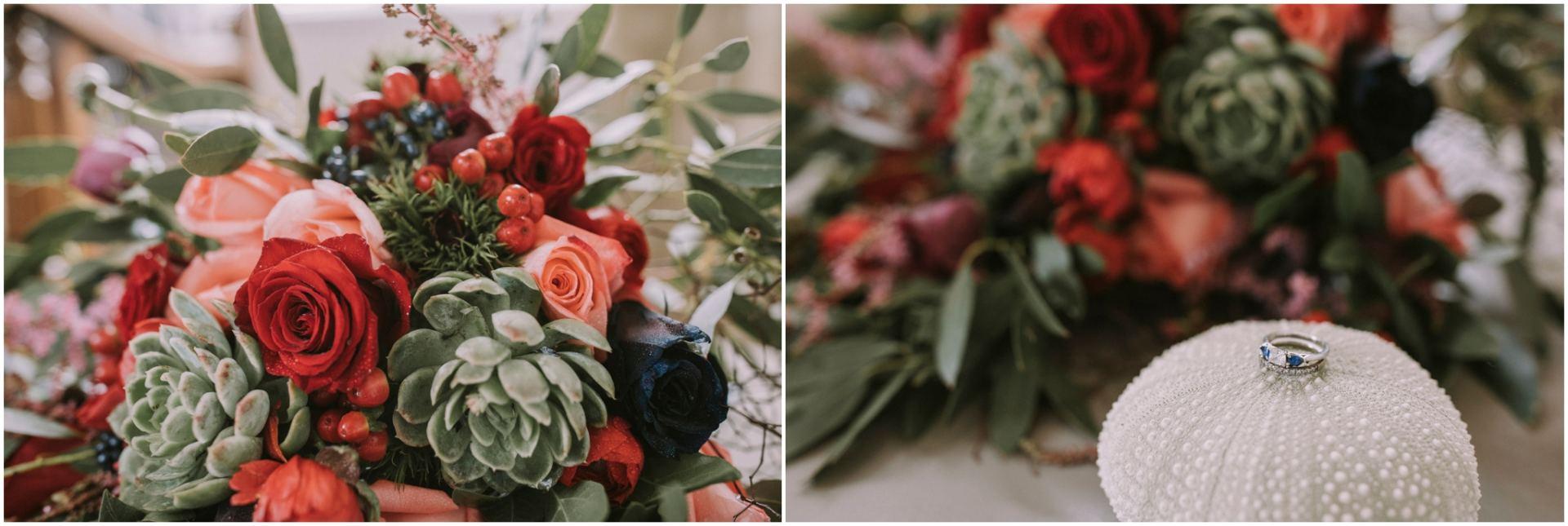 The catlins wedding flowers