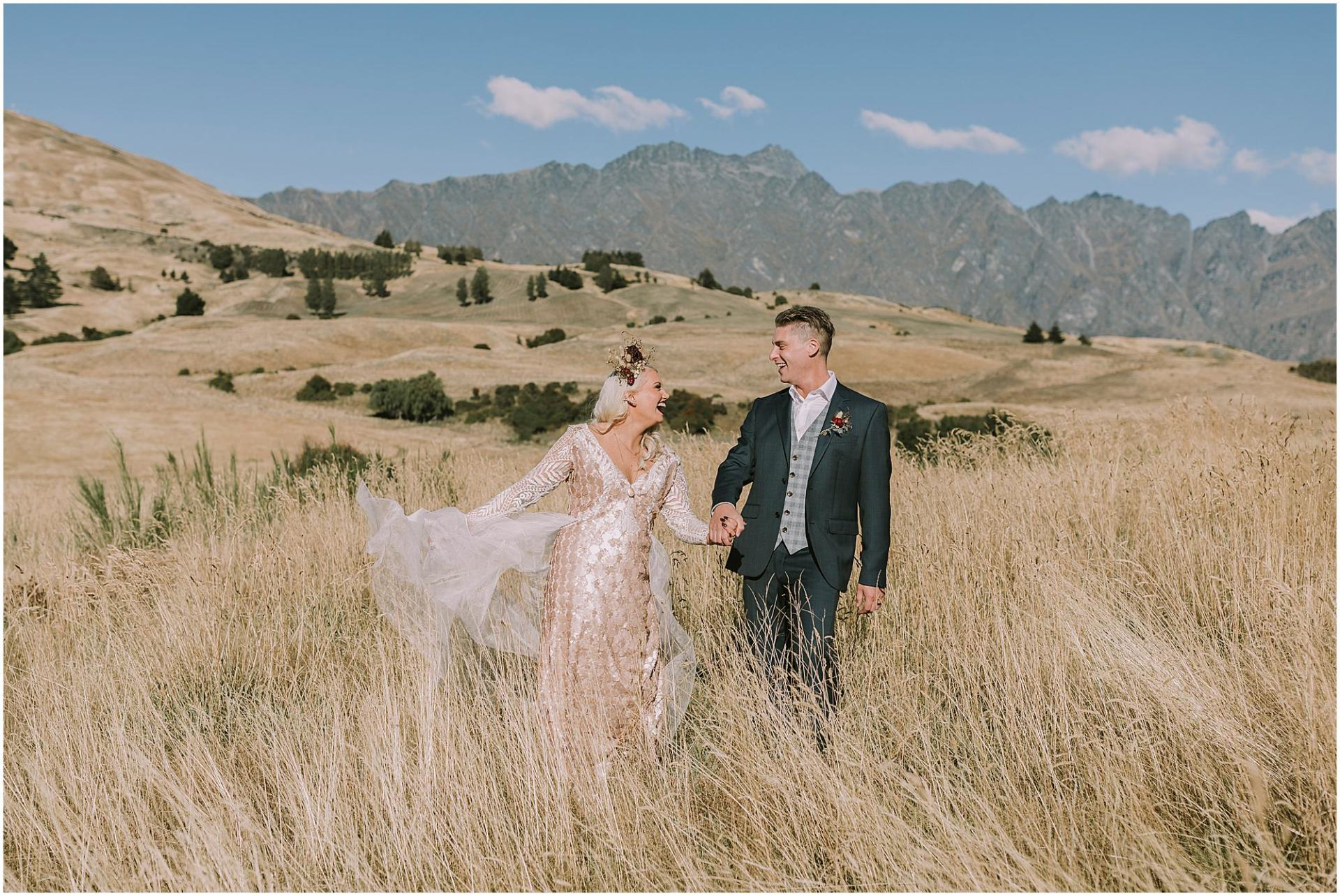 Boho & groom - Queenstown Wedding Photographer Charlotte Kiri